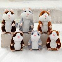 Dropshipping 15 cm / 18 cm Schöne Reden-Hamster-Sprecher Talk-Rekord-Wiederholung Stofftier-Tier-Kawaii-Hamster-Spielzeug Weihnachten 201215