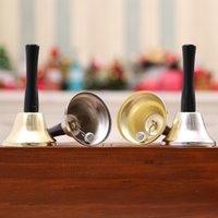 Decorações de Natal Xmas Party Gold Silver Natal Mão de Bell Vestido Ferramenta de Papai Noel do Natal de Bell Rattle ano novo w-00432