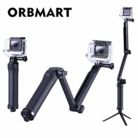 Orbmart Multi 3-Way Monopod تمديد القابلة للطي قبضة الذراع المحمولة ماجيك ماونت سيلفي عصا ل gopro هيرو 4 3 + 3 SJ4000 xiaomi يي LJ200916
