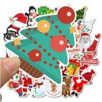 50pcs Noel Duvar Etiketler Noel ağacı Ev Dekorasyonu Noel Baba Graffiti Sticker Su geçirmez Laptop Kaykay Parti Hediyeleri 4 5sl G2