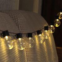 Bateria alimentada 10/20 LED Transparente Bola Fada lâmpada LED Globe Natal Luzes Cordas para Home Pátio festa do casamento do jardim