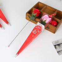 콘 상자 인공 꽃 웨딩 장식 보존 된 장미 빨간색 포장 멀티 컬러 꽃다발 발렌타인 데이 선물 비누 리본 1 9xya G2