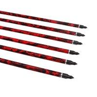 Chasse arc arc et flèches 32 pouces camo carbone fibre de carbone flèches cible de carbone flèches de tir avec des points de champ remplaçables
