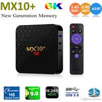 MX10 Artı 6K Akıllı Android 9.0 TV Box Allwinner H6 4GB 32GB 2,4G / 5G WiFi BT4.0 UHD 6K 4K Media Player Set Top Box PK MX10 Pro