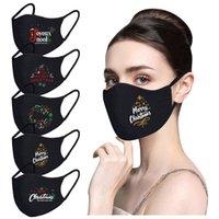 cotone traspirante maschere facciali natale nero stilista viso maschere antipolvere lavabili maschere riutilizzabili per donna KKA1832