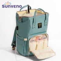 Sunenmo mamãe fralda grande capacidade de fralda desenhador de enfermagem moda viagem mochila bebê bagagem para mãe y200107