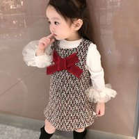 Fashion girls suits sweet boutique girls outfits lace cotton...