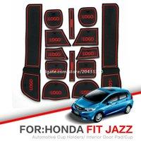 Car Porte fente Tapis Coaster eau Intérieur Tapis antidérapante pour Honda Fit Jazz 2008 ~