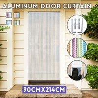 Cortina cortina 214x90cm janela janela divisor valentio porta alumínio metal cadeia de inseto blinds tela de controle de pest