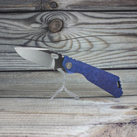 Ojos malvados Cuchillo plegable personalizado SNG DDC azul cristalino de titanio manija alta dureza M390 cuchilla bolsillo cuchillos táctico camping caza EDC herramientas