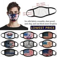 États-Unis en stock Amérique Drapeau d'Eagle Trump Masques d'impression coton Lavable Masques visage respirant resuable Femme Homme Masque Mode de FY9120