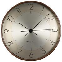 ساعات الحائط الشمال ساعة كبيرة الخشب الذهب الفاخرة الحديثة رث شيك ديكور المنزل غرفة المعيشة آلية الصامت أفكار هدايا