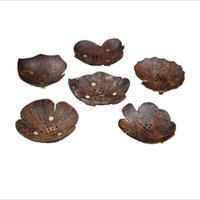 الإبداعية جوز الهند شل الصابون الأطباق ورقة الكرتون شكل جوز الهند حامل الصابون صينية الجوف خارج حفرة لوازم الحمام
