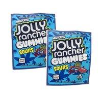 2021 Yeni Jolly Rancher Gummies Sours Meyve Lezzet Paketleme Çanta 600 mg Kaliforniya Mylar Plastik Ambalaj Koku Geçirmez Çanta Şeker Aggh