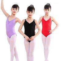 Stage Wear Girl Kid Ballet Dance Abbigliamento Leotard Gymnastics Strap Dancewear Sicuro Leodys Costume Costume Camisole Dress1