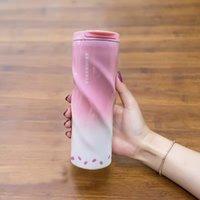 500 ml Starbucks Paslanmaz Çelik Su Şişesi Taşınabilir Bardaklar Seyahat Şişe Kahve Su Kupası Yalıtımlı Arabalar Kahve Kupa
