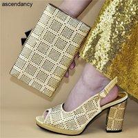 Nova moda Africano casamento sapato italiano e sets decorar sapatos italianos com sacos de harmonização fivela cinta elegante festa1
