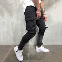 Europejskie i amerykańskie dżinsy kombinezony Szczupła wymiarowa kieszeni zamek błyskawiczny spodnie dla młodzieży spodnie denimowe
