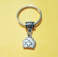 NEW HOT 패션 보석 의료 가방 / 간호사 캡 Keychain- 매력 펜던트 키 체인 링 DIY 맞춤 키 체인 - 198