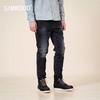 Simwood Outono Inverno Novo Slim Fit Cadeiras Calças De Jeans Negro Preto Calças Clássico Jean de Alta Qualidade Marca Roupas SJ130915 201128