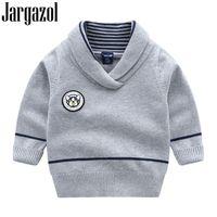 Яргазол малыша девушки свитера мультфильм собака буква значок ребёнок одежда детей вязание пуловер детей красный свитер мальчики одежда LJ201007