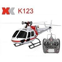 Оригинальный XK K123 6CH безщеточный AS350 Scale 3D6G система RC вертолет RTF обновления WLTOYS V931 201210