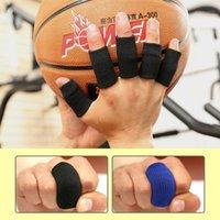10 pçs / conjunto de mangas de dedos elásticos basquete esportes de segurança thumb Brace protetor para voleibol ginásio fitness cuidados de saúde1