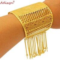 Adixyn Dubai Plus Big Size Braccialetti per Bridal Wedding Jewelry 24k Gold Color Color Rame India Braccialetto African Party Mom Gifts N12111