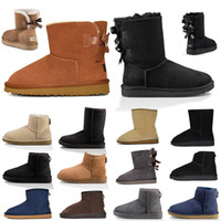 New Top Quality Botas Mulheres botas clássico Blue Castanha Alta Baixa Preto Marinho Cinzento tornozelo Curto Bota Womens neve botas de inverno
