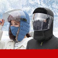 Kış Trapper Trooper Şapka Windproof Gözlük Sıcak Kamuflaj Maskesi Kulak Kayak Av Hat Deniz Kargo DDA657 Walking Klapeleri Doğa Sporları