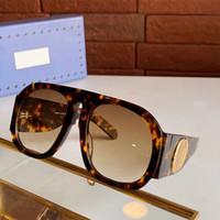 2020 Resmi Son Güneş Gözlüğü Çift G Tasarım 0152 Moda Güneş Gözlüğü Düz Ayna Çerçevesi En Kaliteli Basit Dekoratif Gözlük