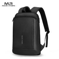 Mark Ryden Slim Laptop Rucksack Männer Thin Back Pack 15,6 cm Arbeit Mann Rucksack Business Bag Unisex Schwarz Ultralight Rucksack LJ200901