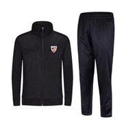 2021 атлетическая бильбао Новый стиль футбольный мужской куртка с брюками спортивный форум футбол спортивный трексуит взрослых детей одежда