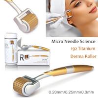 Лучшие продавца роскошь 192 титановые микроиллы терапии Derma ролик для угревой шрам Антивозрастная кожа красота уход за омоложением