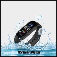 M5 SportFitness المقتفي الذكية مشاهدة 5 الضغط ريال معدل ضربات القلب والدم الأساور ساعة ذكية مراقب الصحة شاشة ملونة الفرقة الذكية