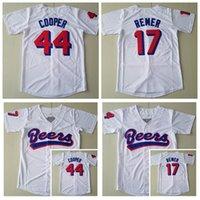 Film Beers Baseball 44 Joe Coop Cooper Jersey 17 Doug Remer Alle genähtes Weiß Team Farbe atmungsaktiv aus reiner Baumwolle kühler niedriger heißen Männer