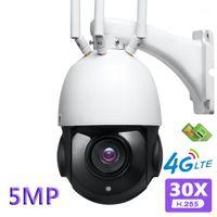 30x zoom ótico 4g câmera IP WiFi FHD LTE 5MP Exterior Esférico 360 Graus Onvif H.265 Vigilância Sem Fio CAM1