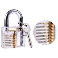Lock Pick Set 12 stücke Lock Pick Set Kit Locksmith Handwerkzeug defekte Key Extractor Entfernen Haken Hardware DIY mit Praxis transparentes Schloss