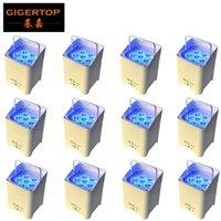 TIPTOP Şarjlı Sahne Işık 6 * 6W 6in1 RGBAW UV Pil LED Par Işık freeshipping alunminum konut x 12 birimleri Döküm İşletilen