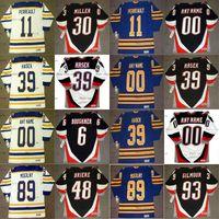 Vintage Buffalo Sabers Jerseys 39 Dominik Hasek 89 Alexander Mogilny 36 Matthew Barnaby 48 Daniel Briere 11 Gilbert Perreault Hóquei Jerseys
