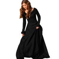 Frauen Vintage mittelalterliche Kleid Kostüm Prinzessin Renaissance Gothic Kleid FZ1969