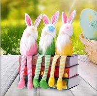 1 pz Pasqua coniglio a gambe lunghe Bambola Fata Bambola Fata decorazione ornamenti decorazione della casa Giocattoli di peluche