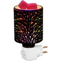 Nachtlicht S, Plug-In-Wachswärmer 3D-Glasschmelzwärmer für die Erwärmung duftende Würfel oder ätherische Öle US-Stecker