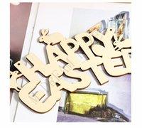 Pâques de décoration en bois de Pâques Happy Pâques Porte Pendentif Pendentif Ornements DIY BOIS DE LAPBIT DE LA LAPUT Pâque Décor pour la maison PPD4214