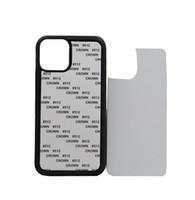 Caso em branco telefone 2D Sublimation TPU PC para o iPhone 12 11 Pro Max SE 8 8plus X xr xs máximo com alumínio Inserções