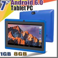 """848 Allwinner A33 쿼드 코어 Q88 태블릿 PC 듀얼 카메라 7 """"7 인치 용량 성 스크린 Android 6.0 1GB 8GB WiFi Google Play 스토어 플래시 C-7PB"""