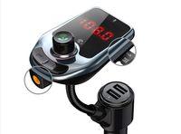 D5 بلوتوث اللاسلكية سيارة مشغل MP3 راديو FM بلوتوث سيارة الارسال الصوت محول رئيس السريعة USB شاحن AUX العرض LCD