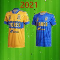 20 21 타이거스 UANL 남자 축구 유니폼 GIGNAC E. 바 가스 퀴논 홈 어웨이 축구 셔츠 Camisetas 드 Futebol의 짧은 소매 성인 유니폼