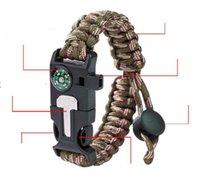 Браслеты на выживание браслеты на открытом воздухе снаряжение Paracord браслет пешком поход для кемпинга туристический альпинизм
