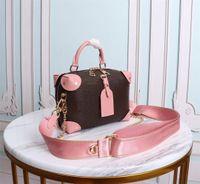 검은 핑크 쁘띠 맥플 핸드백 핸드백 어깨 가방 디자이너 핸드백 스트랩 M45571 M45531